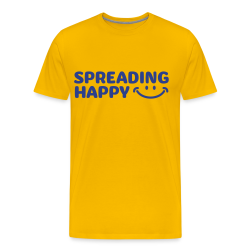 Men's Spreading Happy Yellow T-Shirt - Men's Premium T-Shirt