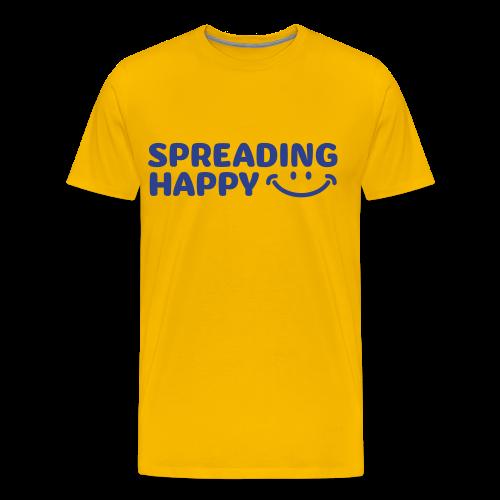 Men's Spreading Happy Yellow T-Shirt - Men's Premium T-Shirt