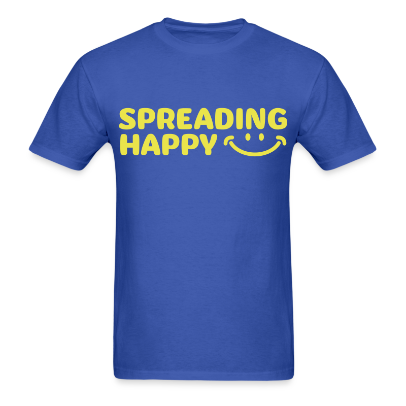 Men's Spreading Happy Blue T-Shirt - Men's T-Shirt