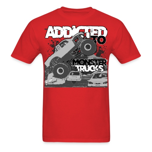 Addicted to Monster Trucks - Men's T-Shirt