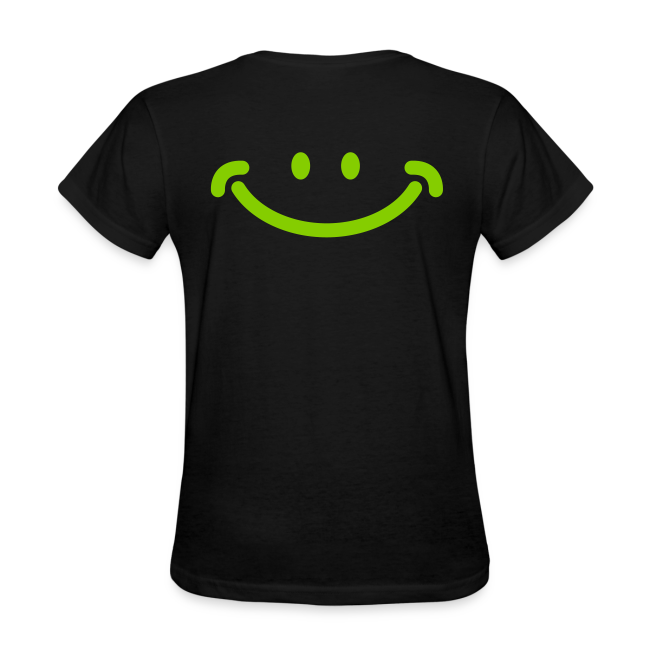 Women's Spreading Happy Black T-Shirt