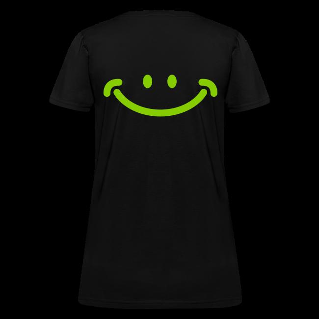 Women's Spreading Happy Black T-Shirt