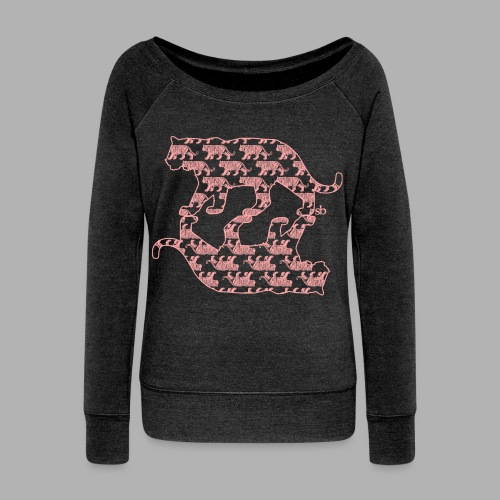 Women's TigerPrint - Women's Wideneck Sweatshirt