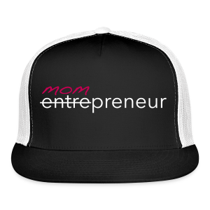 Mompreneur Trucker Hat (Black, White, Pink)  - Trucker Cap
