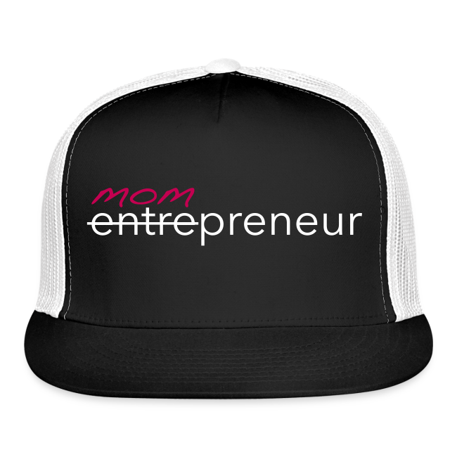 Mompreneur Trucker Hat (Black, White, Pink)