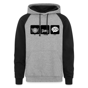 Eat! Sleep! Pop! Hoody - Colorblock Hoodie