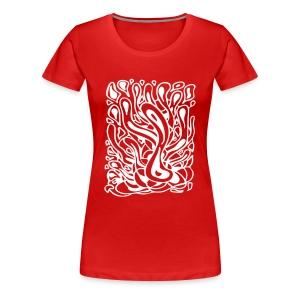Flow in Red - Women's Premium T-Shirt