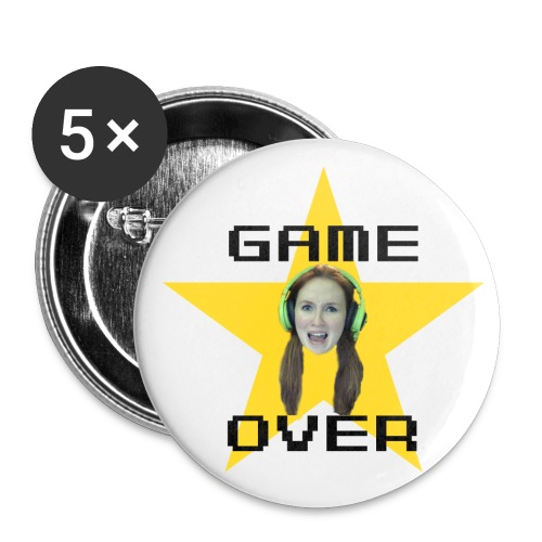 Emuhleigh's Game Over Large Buttons (Pack of 5) - Large Buttons