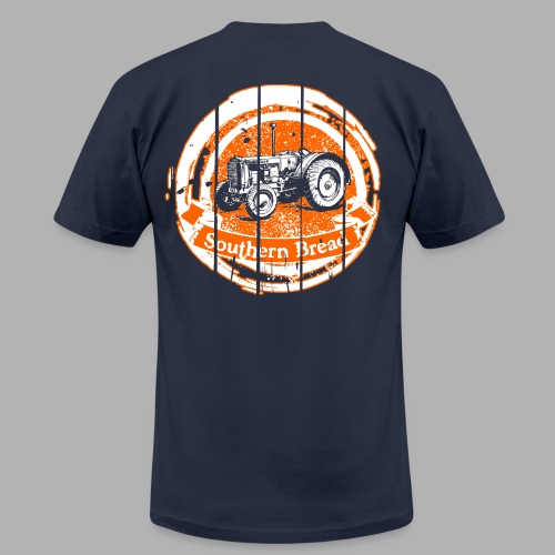 Men's Orange and Blue Tractor/Saturdays at the Barn - Men's Fine Jersey T-Shirt