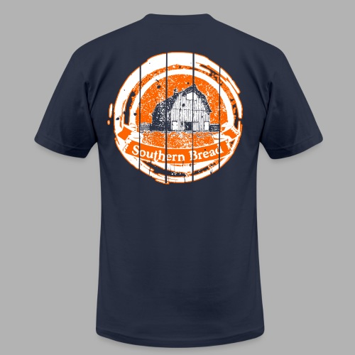 Men's' Orange and Blue Barn/Saturdays at the Barn - Men's Fine Jersey T-Shirt