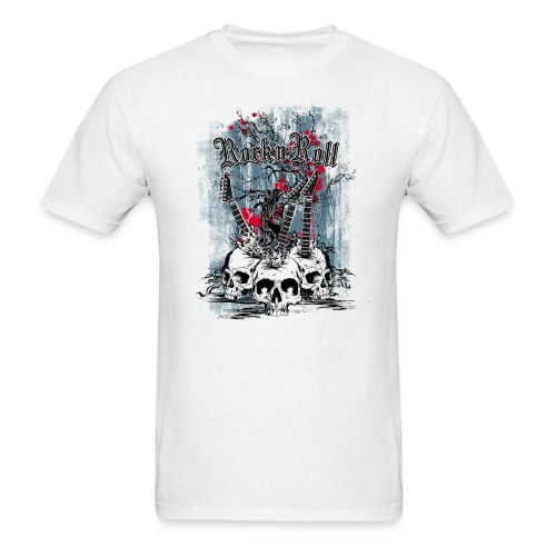 Skull Rock and Roll - Men's T-Shirt