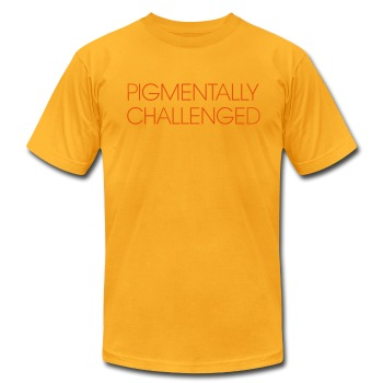 pigmentally challenged (yellow) - Men's T-Shirt by American Apparel