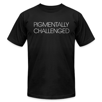 pigmentally challenged - Men's T-Shirt by American Apparel