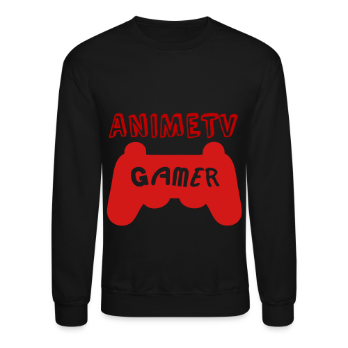 Official AnimeTV Gamer Sweatshirt - Black and Red - Crewneck Sweatshirt