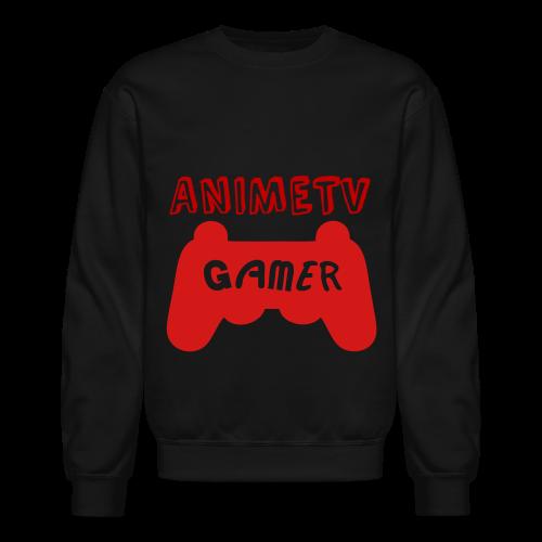 Official AnimeTV Gamer Sweatshirt - Black and Red - Crewneck Sweatshirt