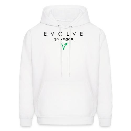 Evolve Go Vegan White Hoodie - Men's Hoodie