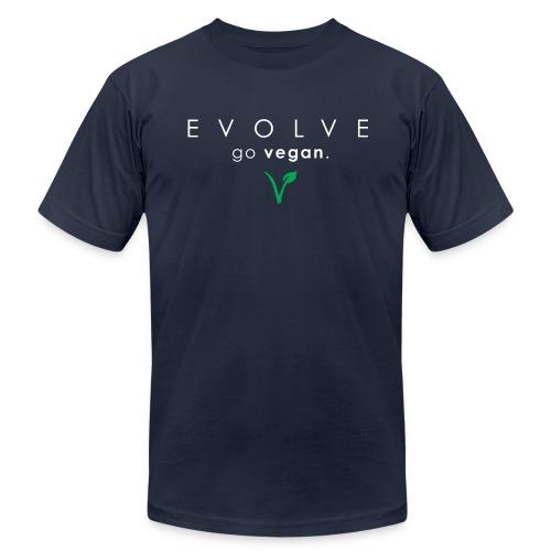 Evolve Go Vegan Men's Navy T-Shirt - Men's Fine Jersey T-Shirt