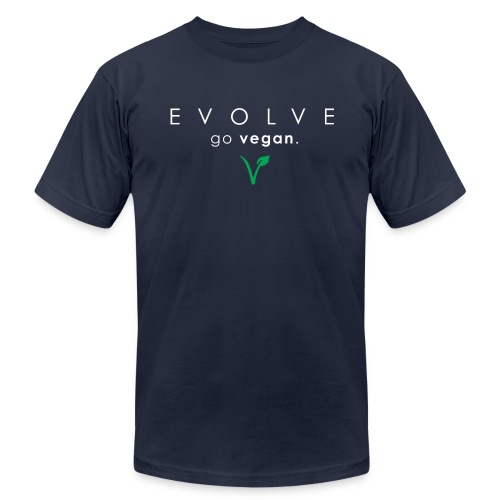Evolve Go Vegan Men's Navy T-Shirt - Men's  Jersey T-Shirt