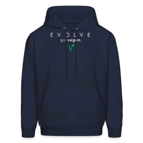 Evolve Go Vegan Navy Hoodie - Men's Hoodie