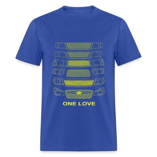 Forester one love blue - Men's T-Shirt