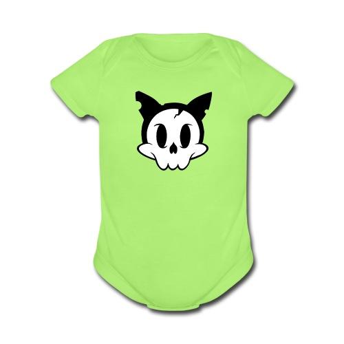 Skullycat-Baby Short Sleeve One Piece - Organic Short Sleeve Baby Bodysuit