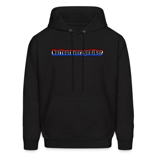NotYourAverageBiker Hoodie 'SmallBlack' FRONT Logo - Men's Hoodie