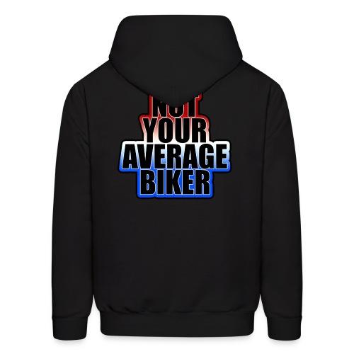 NotYourAverageBiker Hoodie 'BigBlack' BACK Logo - Men's Hoodie