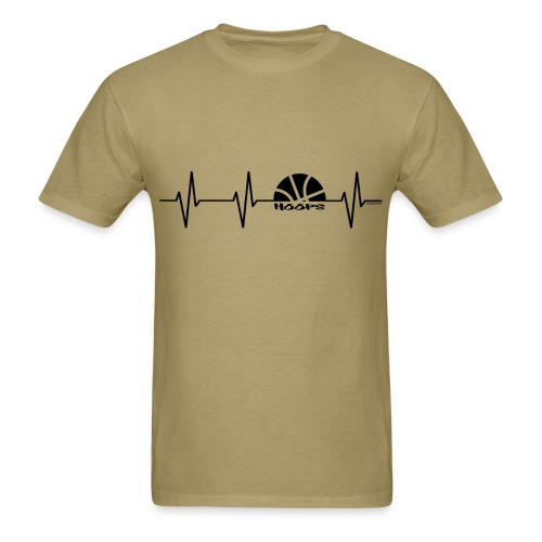 Heartbeat w/dark art - Men's T-Shirt