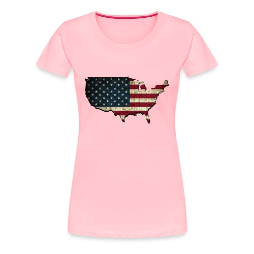 United States (USA) Pride - Premium T-Shirt - Women's Premium T-Shirt