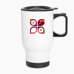 Abstract Minimal Geometrie Hipster Kunst (Rot Gold Mugs & Drinkware
