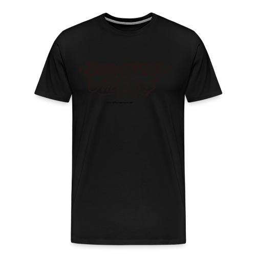 Black on Black Beautiful Mess Tee - Men's Premium T-Shirt