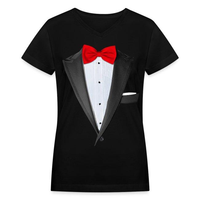 d6c67902 Chattanooga Tshirt | Realistic Tuxedo T-shirt - Womens V-Neck T-Shirt
