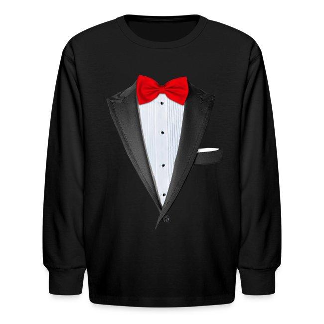 b8d7ff059 Chattanooga Tshirt   Realistic Tuxedo T-shirt - Kids Long Sleeve T-Shirt
