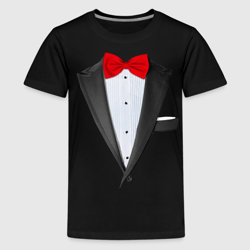 Realistic tuxedo t shirt t shirt spreadshirt for Tuxedo shirt vs dress shirt