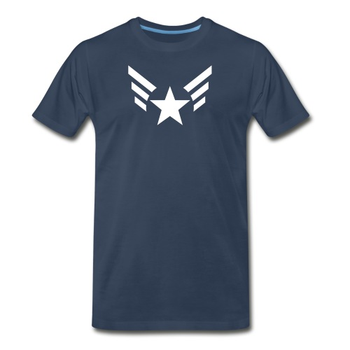 PREMIUM - Men's Captain's Wings - Men's Premium T-Shirt