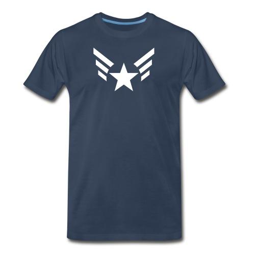 PREMIUM - Men's Captain's Wings - Men's Premium T-Shirt
