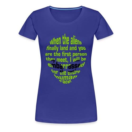 Alien Insult (Women) - Women's Premium T-Shirt