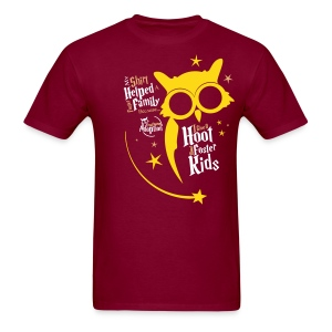 I Give a Hoot - Men's Red/Burgundy - Men's T-Shirt