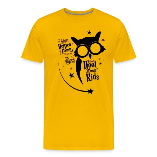 I Give a Hoot - Men's Yellow - Men's Premium T-Shirt