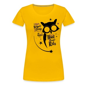 I Give a Hoot - Women's Yellow - Women's Premium T-Shirt