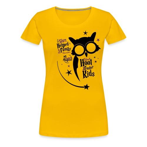 I Give a Hoot - Women's Yellow - Women's Premium T-Shirt