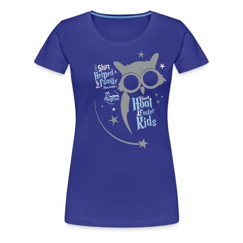 I Give a Hoot - Women's Blue - Women's Premium T-Shirt