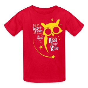 I Give a Hoot - Kids Red - Kids' T-Shirt