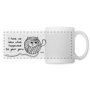 The Cat Loves to Steal Yarn - Panoramic Mug