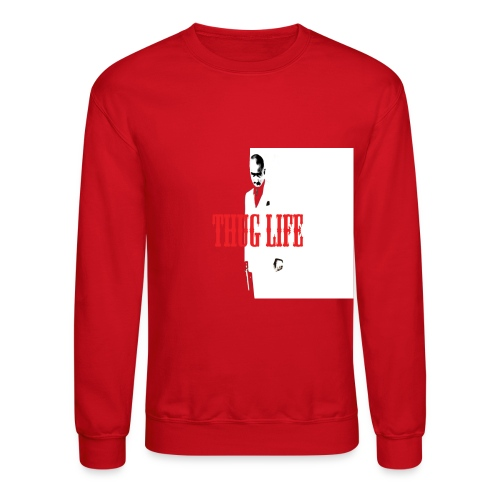 THUG LIFE RED  - Crewneck Sweatshirt