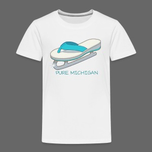 Flip Flop Ice Skate - Toddler Premium T-Shirt