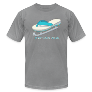 T-Shirts ~ Men's T-Shirt by American Apparel ~ Flip Flop Ice Skate