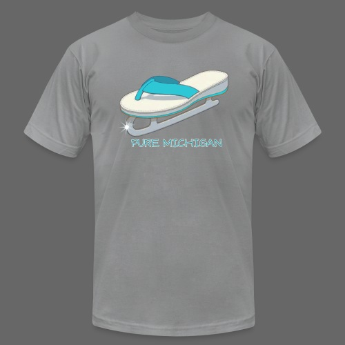 Flip Flop Ice Skate - Men's T-Shirt by American Apparel