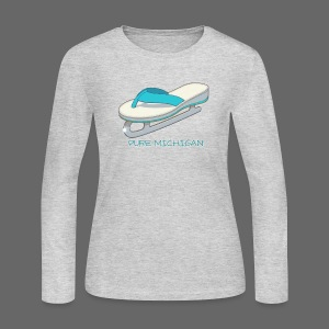 Flip Flop Ice Skate - Women's Long Sleeve Jersey T-Shirt