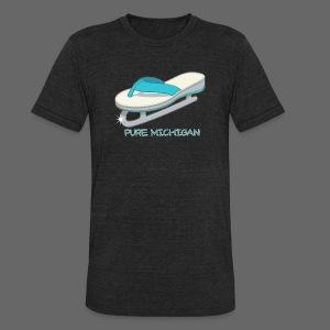 Flip Flop Ice Skate - Unisex Tri-Blend T-Shirt